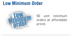 Low Minimum Order quantity